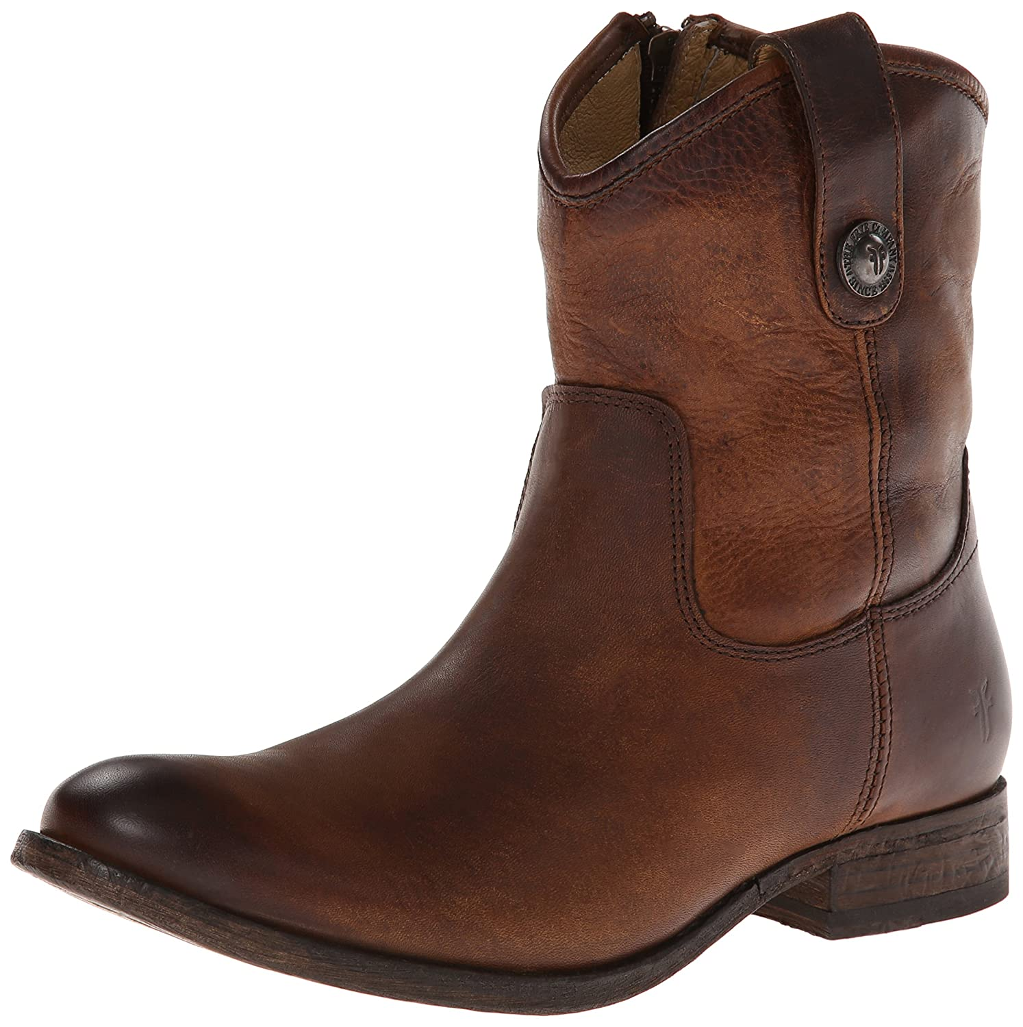 FRYE Women's Melissa Button Short Ankle Boot B00IMIFWR8 5.5 B(M) US|Dark Brown Washed Antique Pull-up-77908