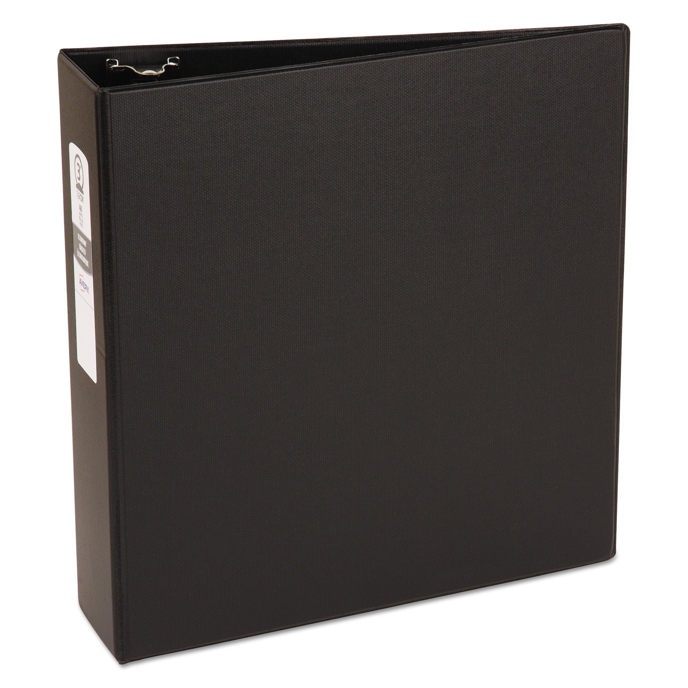 Avery Economy Binder, 3'' Round Rings, 460-Sheet Capacity, Black (03602)