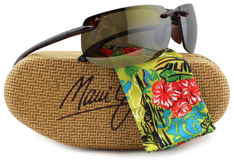 cf4ac6019bd Amazon.com  Maui Jim H412-10 Banyans Sunglasses Tortoise w  HCL Bronze H412  10 70mm Authentic  Clothing