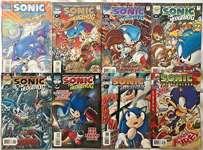 Sonic The Hedgehog 66 272 Vg Vf Lot 8 Books 1996 Archie Comics At Amazon S Entertainment Collectibles Store