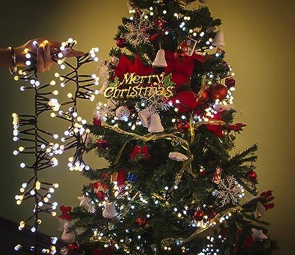raylix string lights led indooroutdoor globe string lights 10ft 400leds bendable christmas lights indoor and - Indoor Christmas Decorations Amazon