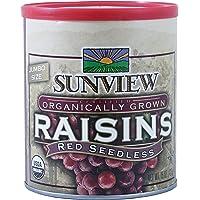 Sunview Organic raisins red can, 15oz