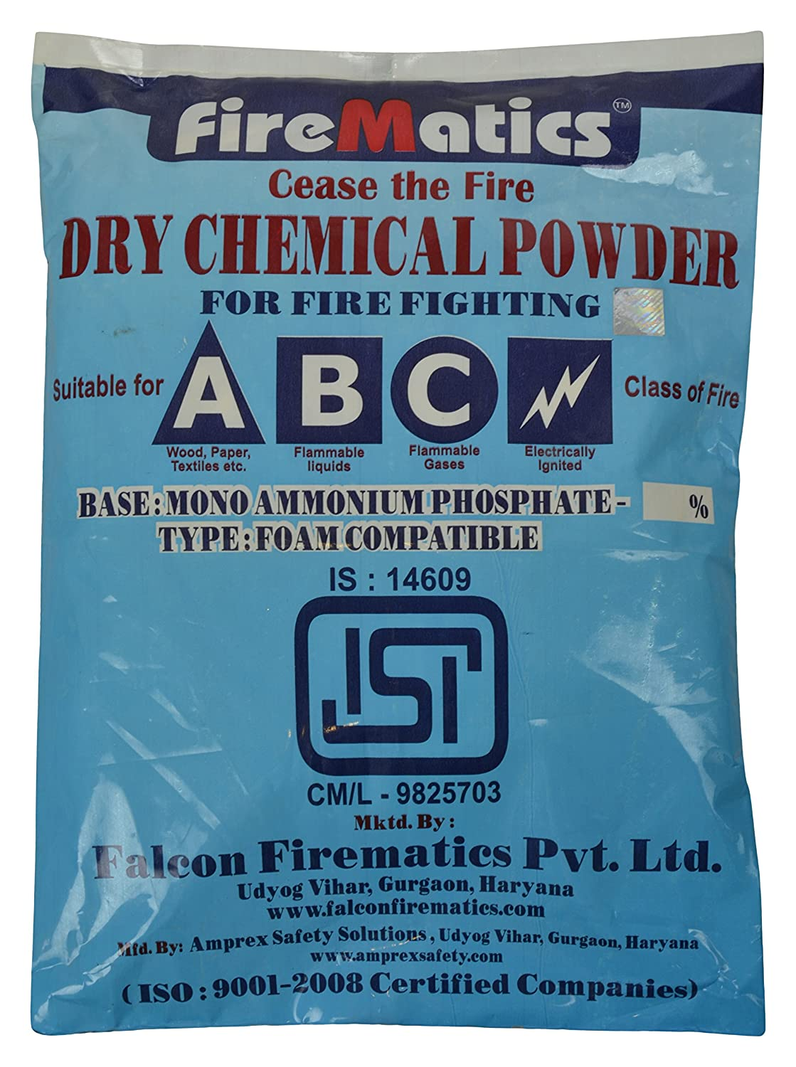 FireMatics Dry Chemical Powder ABC Type ISI Marked: Amazon.in: Home ...