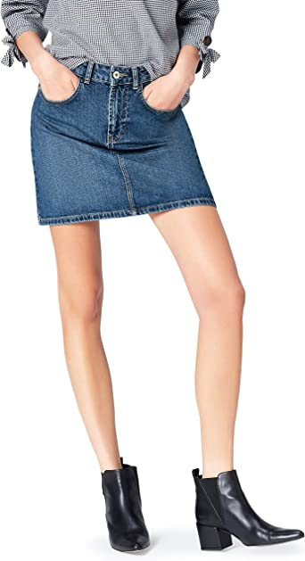 find. Mini Dark Falda Mujer, Azul, 42 (Talla del Fabricante: Large ...