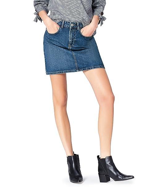 FIND Minifalda Vaquera con Bolsillos Mujer  Amazon.es  Ropa y accesorios 8951fd4fb188