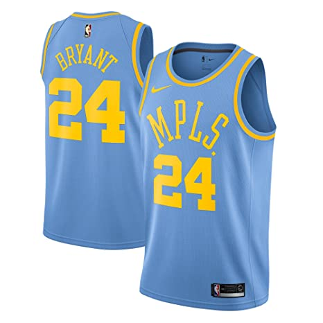 7ee25b1c2 Image Unavailable. Image not available for. Color  Nike Kobe Bryant Los  Angeles Lakers  24 Swingman Hardwood Classics Blue Jersey ...
