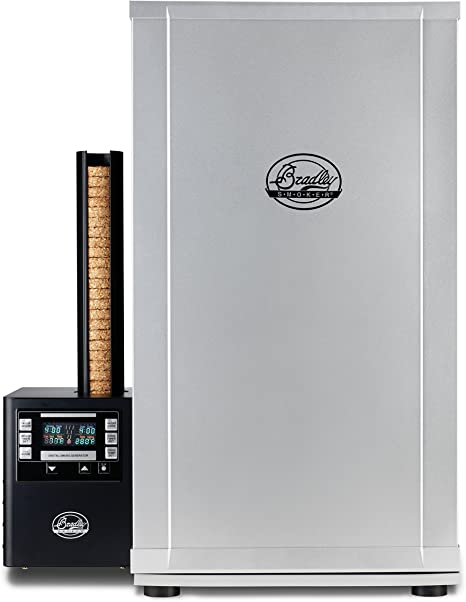 Bradley Smoker BTDS76P 990216 Bradley Digital 4 Rack Smoker, Electric, Silver