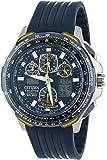Citizen Men's JY0064-00L Eco-Drive Blue Angels Skyhawk A-T Chronograph Rubber Strap Watch