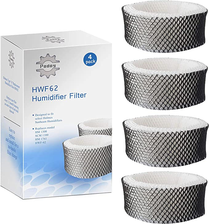 Smilefil 2-Pack Humidifier Filters Compatible with Holmes Type A Filter HWF62 HWF62CS
