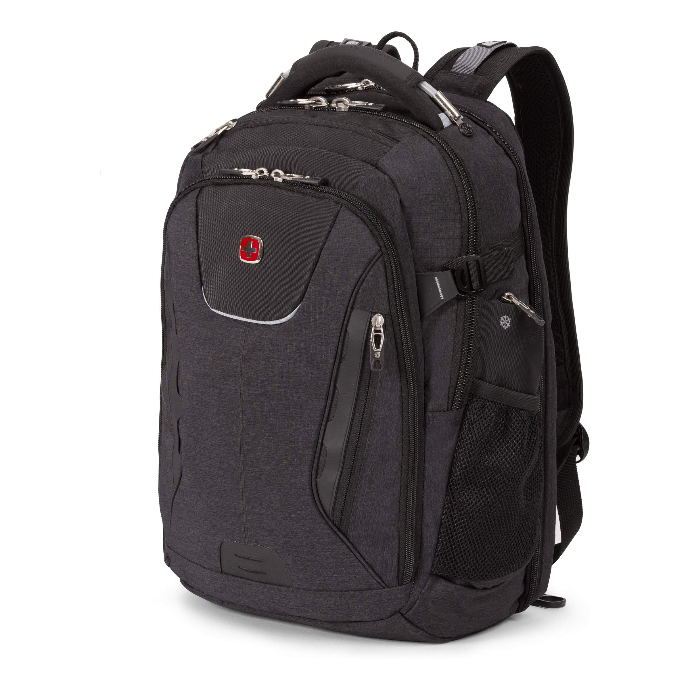 SwissGear 5358 USB ScanSmart Laptop Backpack. Abrasion-Resistant & Travel-Friendly Laptop Backpack (Gray Heather). by SwissGear