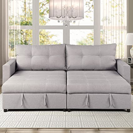 Amazon Com Ac Pacific Robin Polyester Storage Compartments Sofa