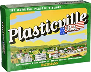 Bachmann Trains - PLASTICVILLE U.S.A. BUILDINGS – CLASSIC KITS - WINDMILL w/FARM MACHINERY - O Scale