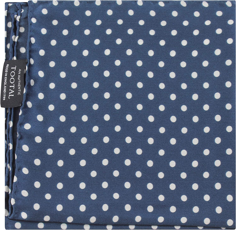 Tootal 100/% Silk Navy Polka Dot Pocket Square