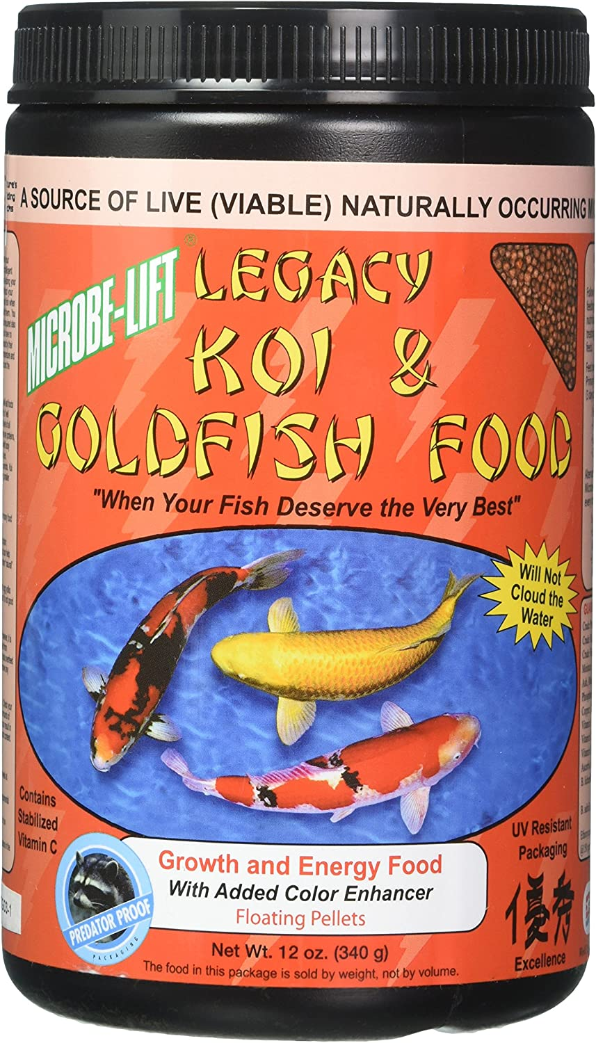 Ecological Labs MLLHGESM 12-OZ Koi Legacy High Growth and Energy Fish Food