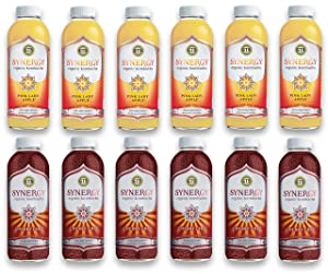 LUV BOX-Variety GT's KOMBUCHA Synergy Kombucha Pack,16 fl oz,12 pk,Pink Lady Apple , Cherry Chia