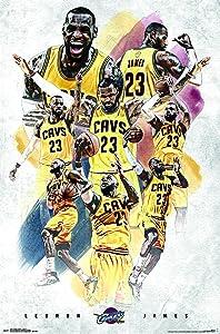 "Trends International Cleveland Cavaliers-Lebron James Premium Wall Poster, 22.375"" x 34"""