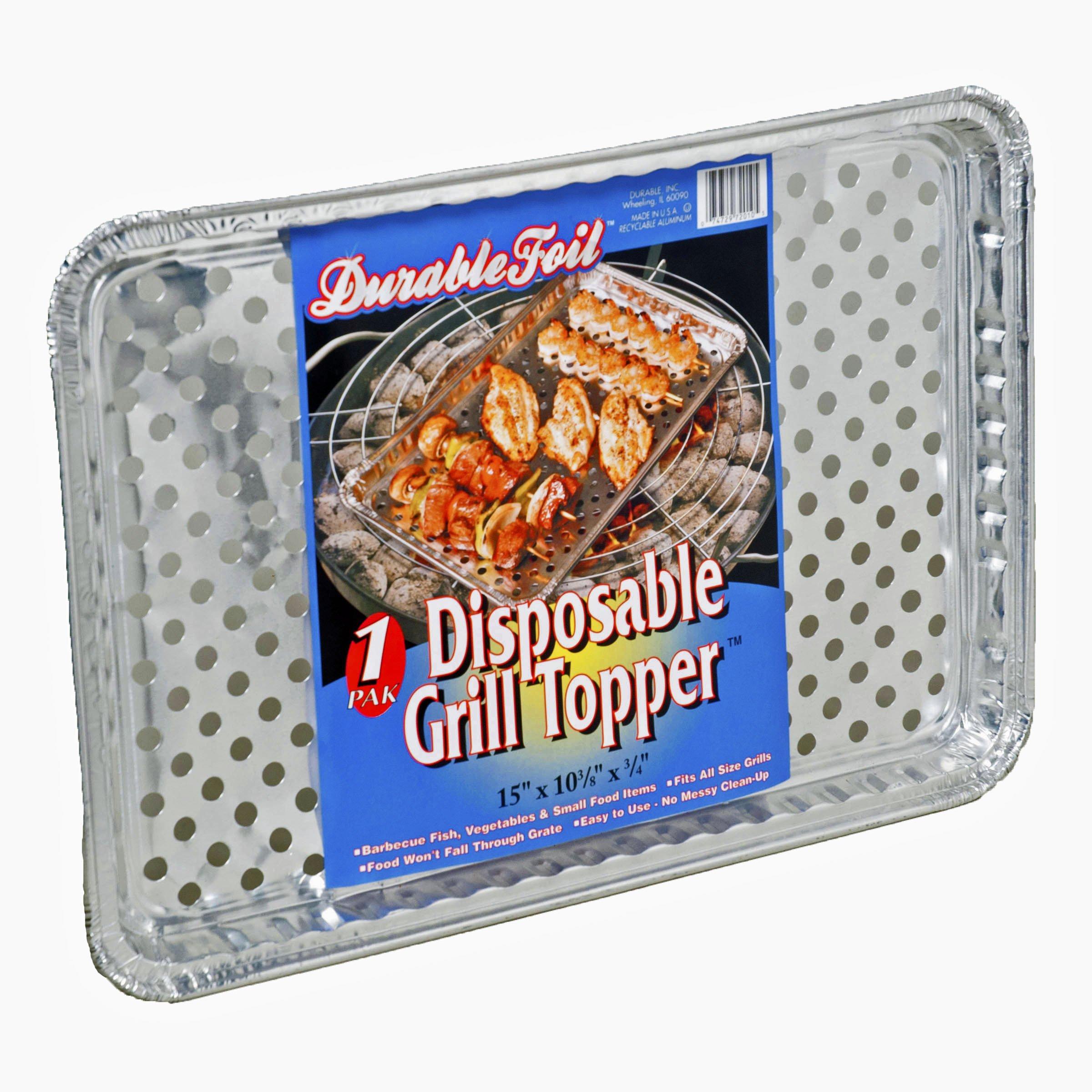 Set of 12 Durable Foil Disposable Deep Grill Topper Pans 11 3/4'' L x 9 1/4'' W x 1 1/2'' D by Durable (Image #3)