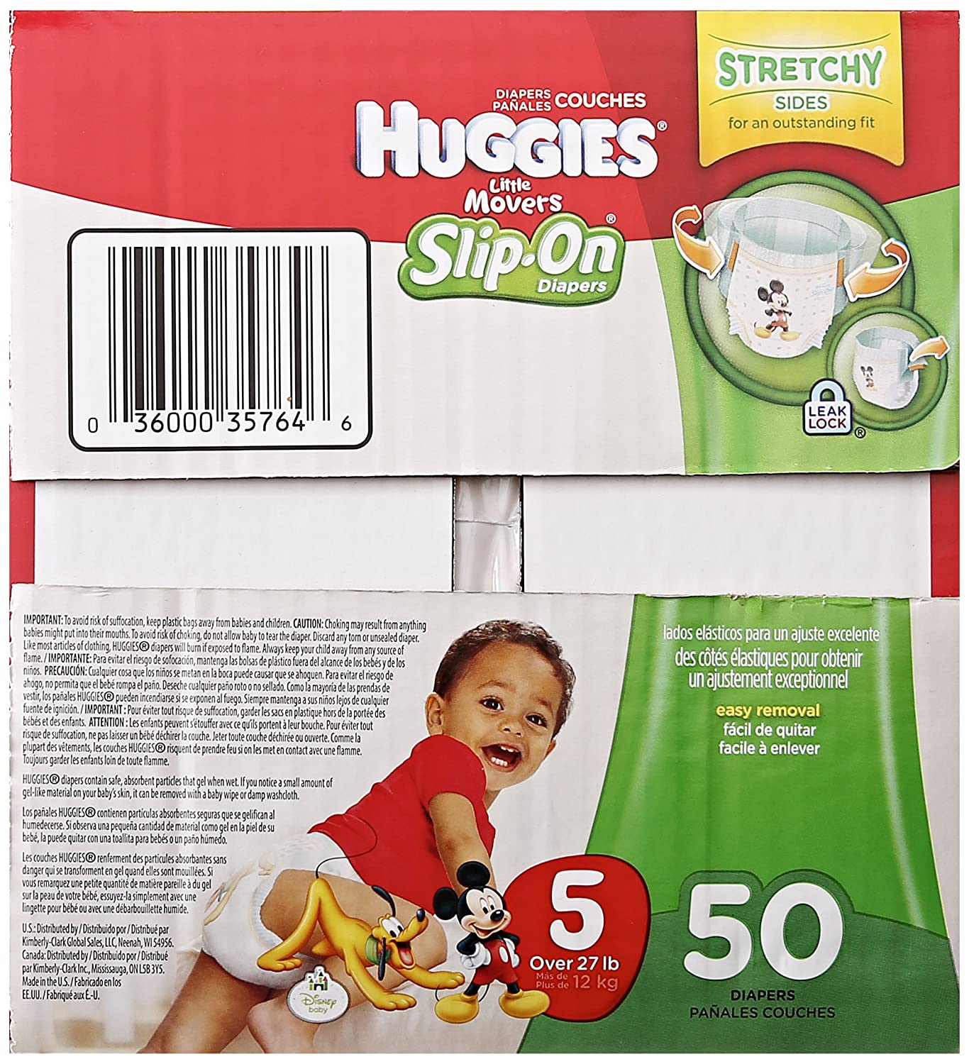 Huggies Little Movers Slip-On Diapers, Step 5, 50 ct: Amazon.com: Grocery & Gourmet Food