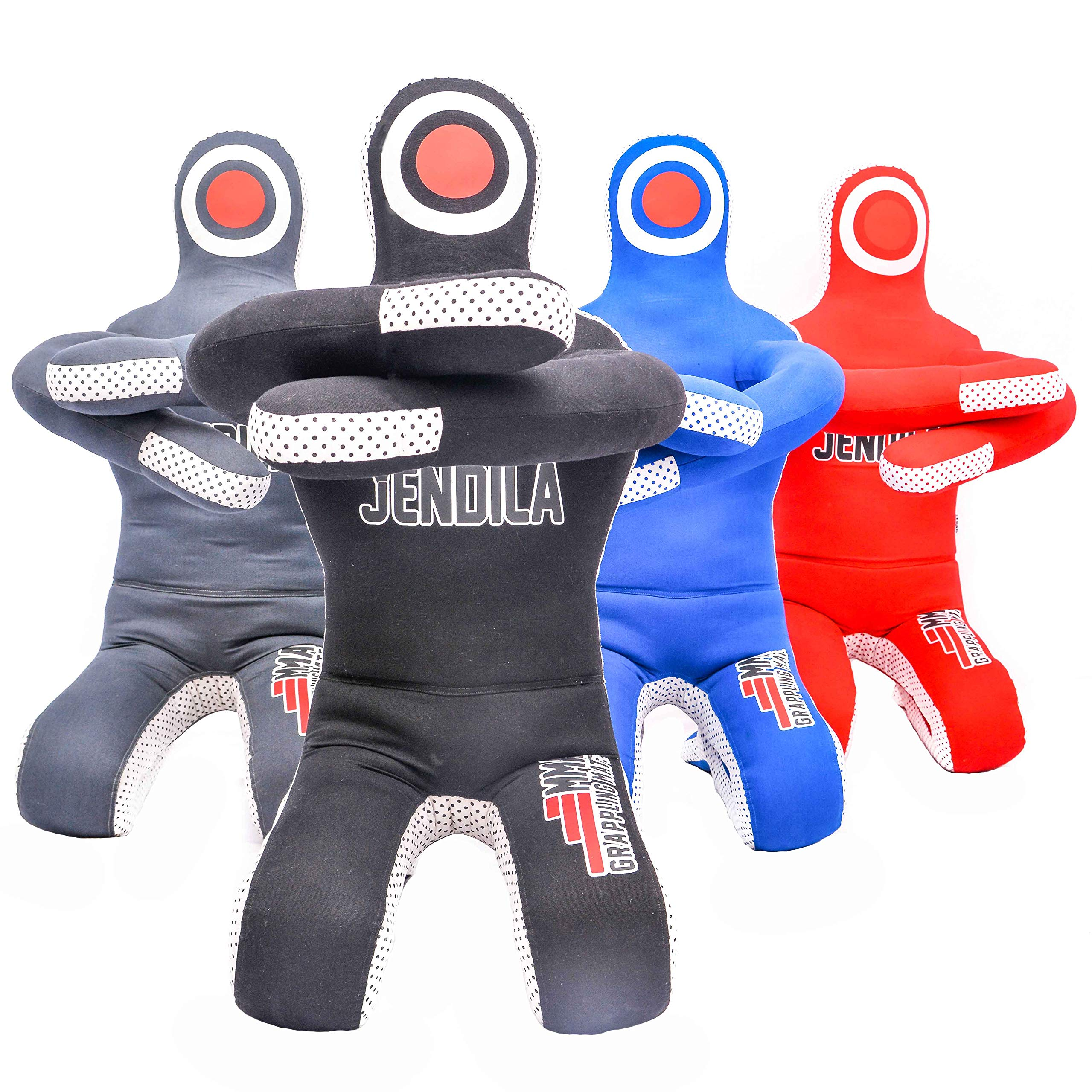 Grappling Dummy MMA Jiu Jitsu - Grappling Wrestling Dummy - Made from Durable Canvas Fabrics - MMA Dummy for Multiple Drills UNFILLED by Jendila