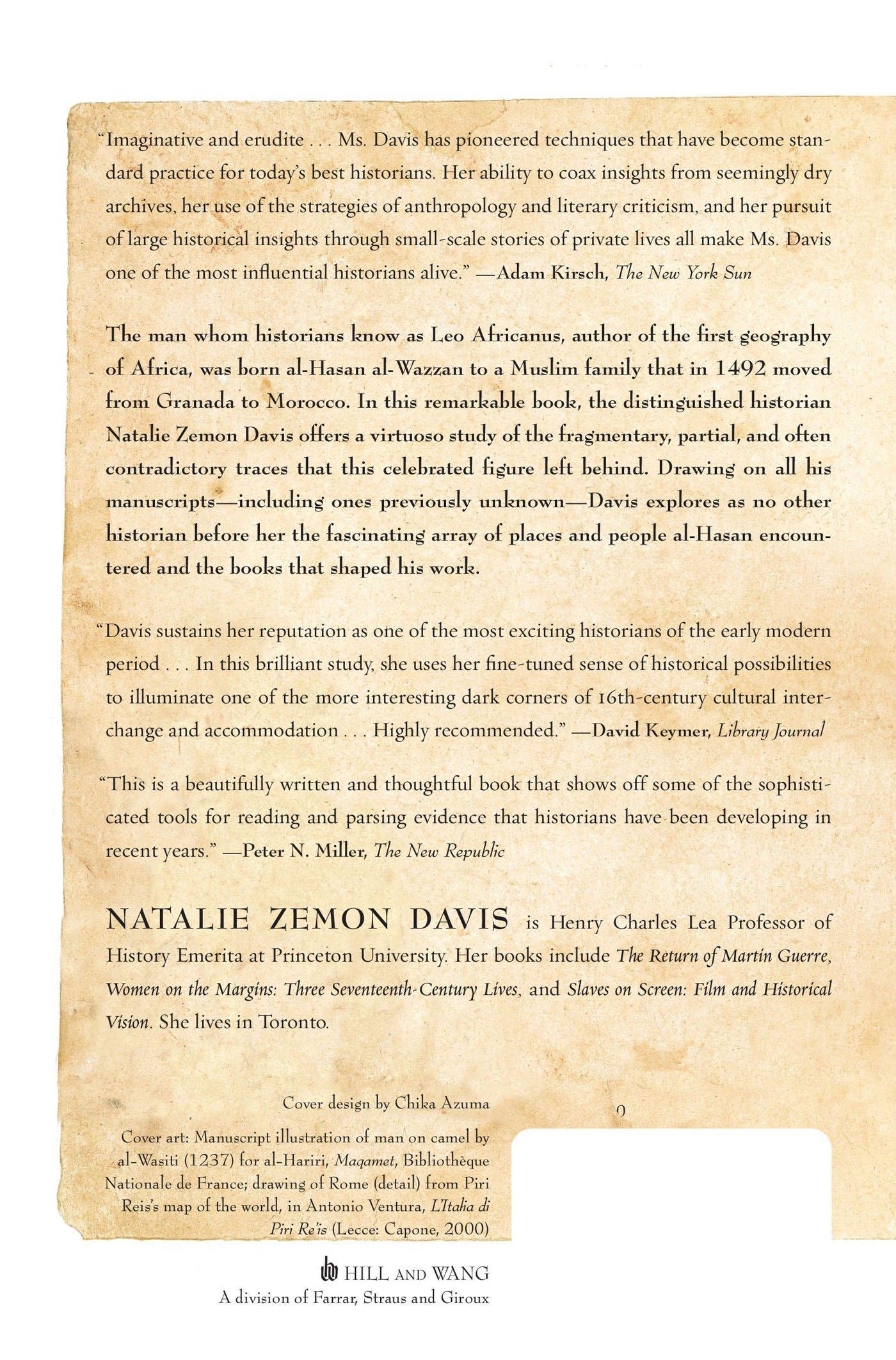 Trickster travels a sixteenth century muslim between worlds dr natalie zemon davis 9780809094356 amazon com books