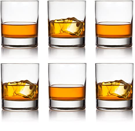 Circleware 44615 Soiree Whiskey, Set of 6, Kitchen Drinking Glasses  Glassware for Water, Juice, Ice Tea, Beer, Wine and Bar Liquor Dining Decor  ...