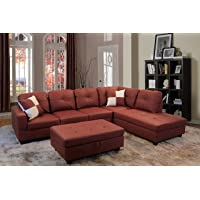 Deals on Beverly Fine Funiture Sectional Sofa Set CT94B