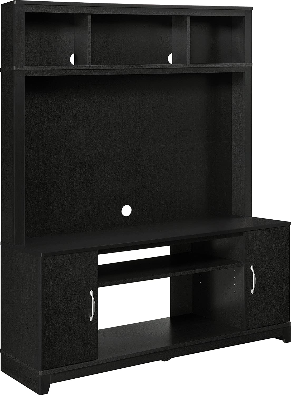 Amazon.com: Home TV Stands Wood Entertainment Media Center For Flat Console  Screens With Storage Wall Unit T.V. Furniture Set: Kitchen U0026 Dining