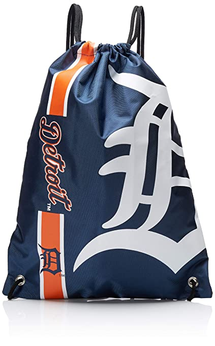 967b48060c Amazon.com : Detroit Tigers Big Logo Drawstring Backpack : Sports & Outdoors