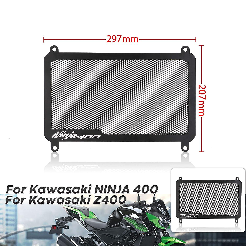 PACEWALKER Motorcycle Radiator Grille Guard Cover Protector Radiator Guard for Kawasaki NINJA400 2018 2019