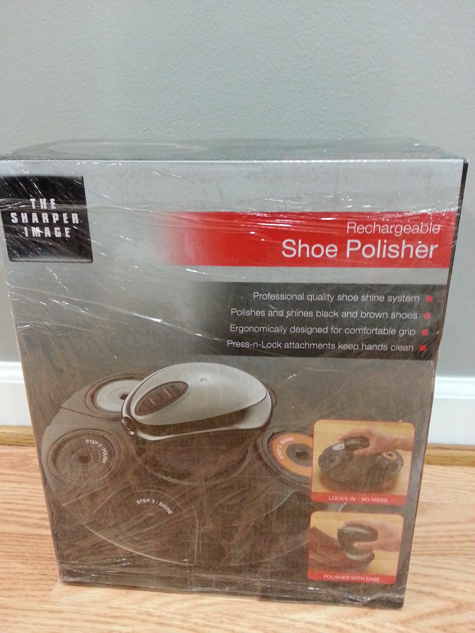 The Sharper Image Portable Electric Shoe Polisher, Black
