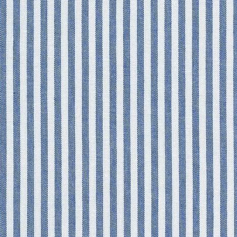Tela azul marino y blanco - raya marina - 100% algodón suave ...