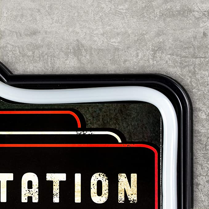"Vintage 1920/'s Pressed Metal Orange Number 5 Store Gas Station Marquee Sign 7.5/"""