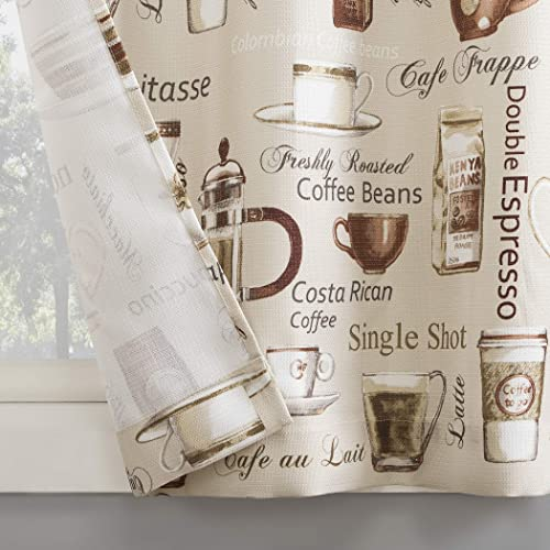 No. 918 Bristol Coffee Shop Semi-Sheer Rod Pocket Kitchen Curtain Valance