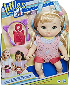 Baby Alive Littles, Carry 'N Go Squad, Little Chloe Blonde Hair Doll, Carrier, Accessories, Toy for Kids Ages 3 Years & Up (Amazon Exclusive)