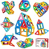 Jasonwell 42 Pcs Magnetic Tiles Building Blocks Set for Boys Girls Preschool Educational Construction Kit Magnet Stacking Toys for Kids Toddlers Children Age 3 4 5 6 7 8 Year Old