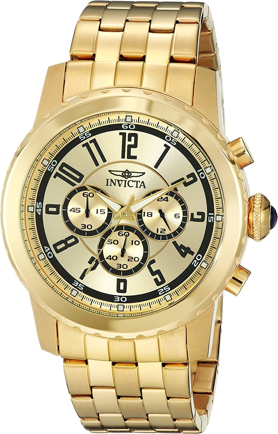 Invicta Men s 19465 Specialty 18k Gold Ion-Plated Watch