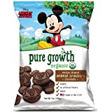 Pure Growth Organic Mickey Shaped Chocolate Animal Crackers, 7 Ounce (Pack of 6)