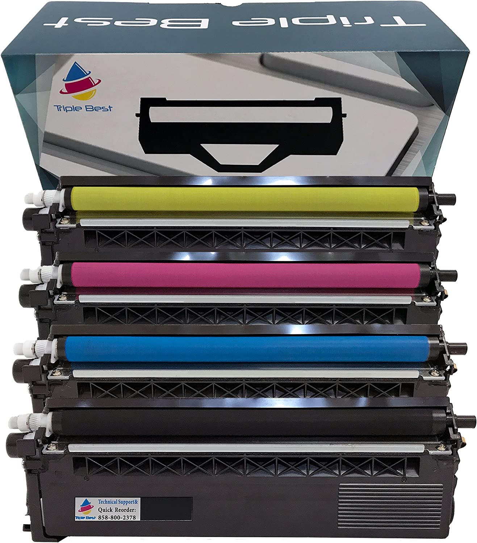 MyTripleBest Set of 4 Compatible Laser Toner Cartridges for Brother TN336BK TN336C TN336M TN336Y High Yield Laser Toner Cartridges