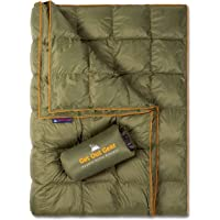 Get Out Gear Double Puffy Camping Blanket - Extra Puffy, Packable, Lightweight and Warm | Ideal for Outdoors, Travel…