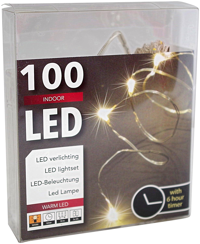 Led Draht Lichterkette Batterie mit Timer 100 Lämpchen Micro Tropfen ...
