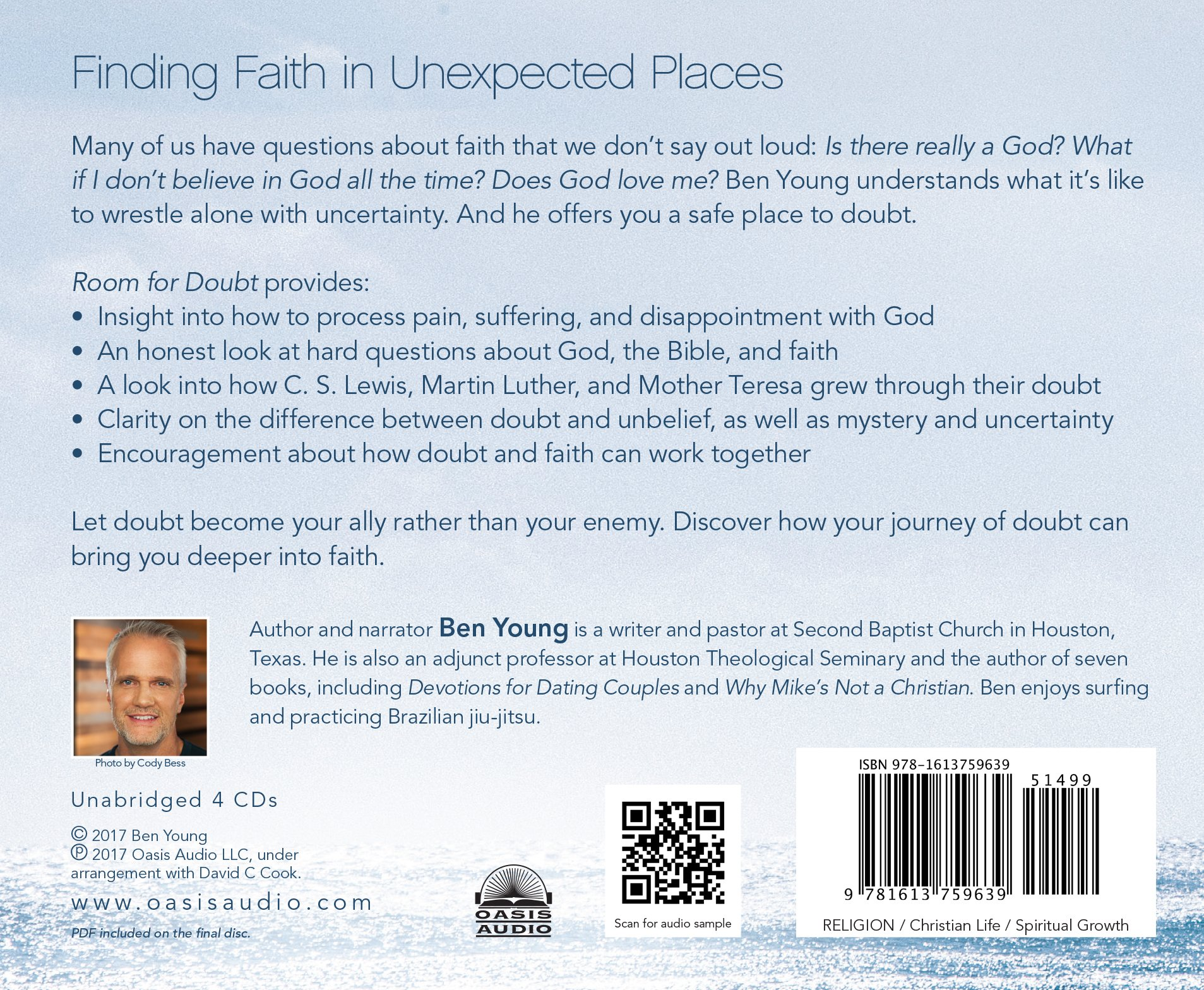 Room for doubt how uncertainty can deepen your faith ben young room for doubt how uncertainty can deepen your faith ben young 9781613759639 amazon books fandeluxe Image collections