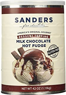 Sanders Milk Chocolate Hot Fudge Dessert Topping, 42 Ounce Containers