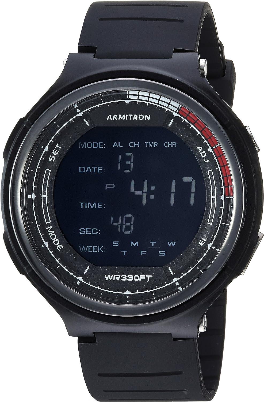 Armitron Sport Men's 40 8418BLK Digital Chronograph Black Resin Strap Watch