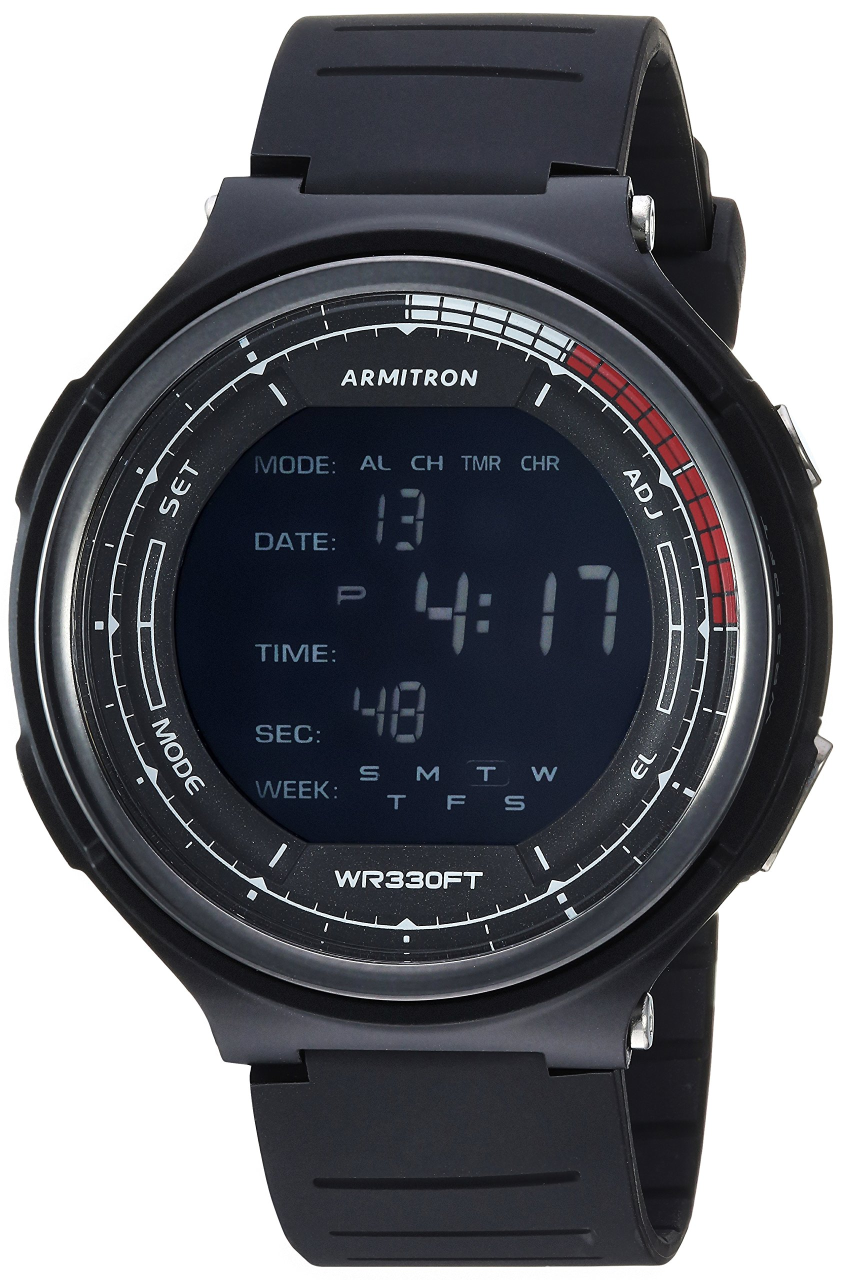 Armitron Sport Men's 40/8418BLK Digital Chronograph Black Resin Strap Watch by Armitron Sport