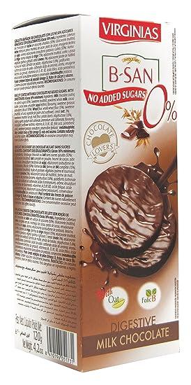 Virginias - Galleta B-San Chocolate Con Leche Sin Azúcares 120 g