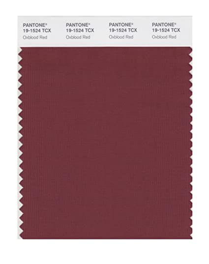 New PANTONE SMART 19-1524X Color Swatch Card, Oxblood Red - House  ZT28