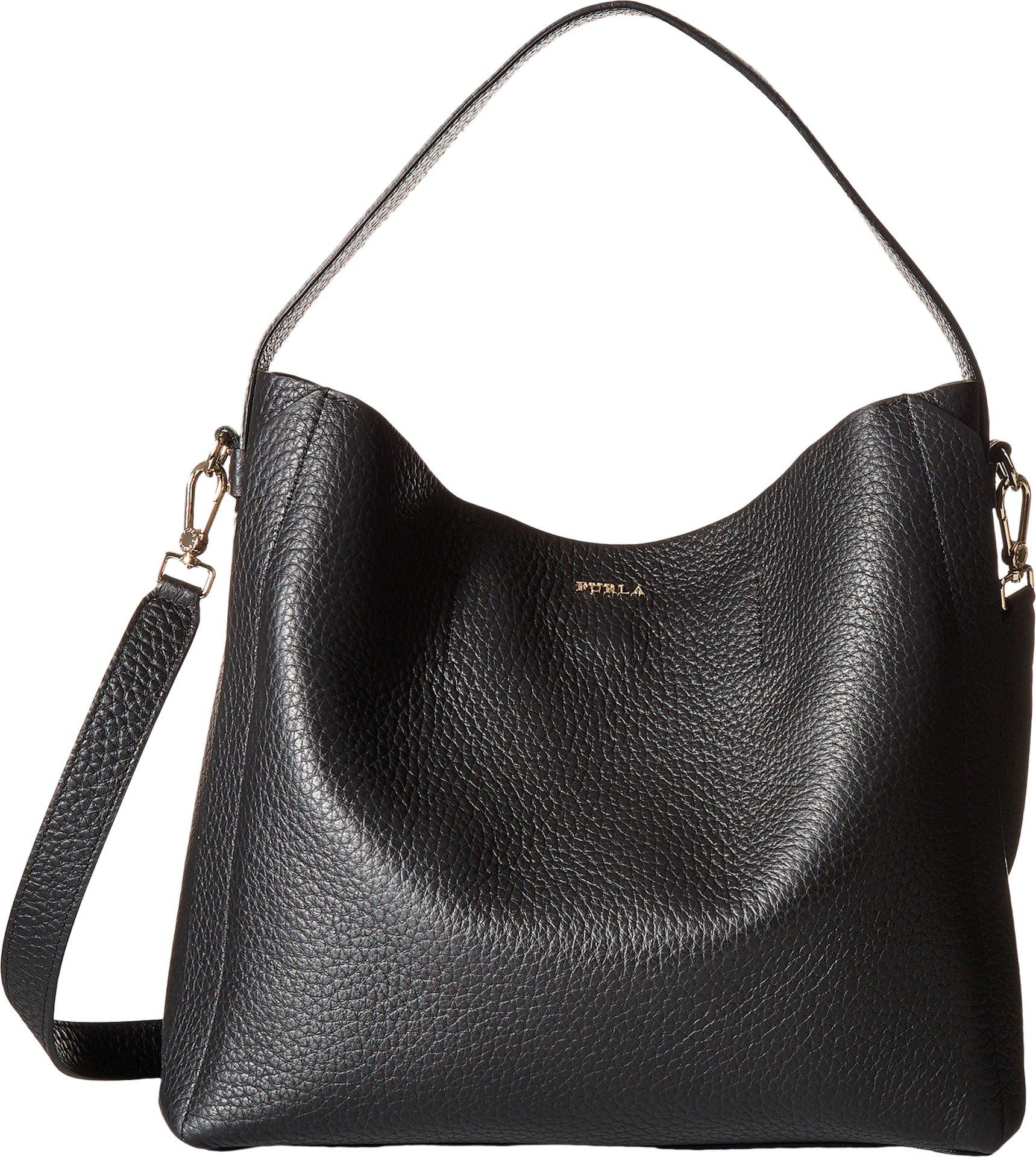 Furla Women's Capriccio Medium Hobo Bag, Onyx, One Size