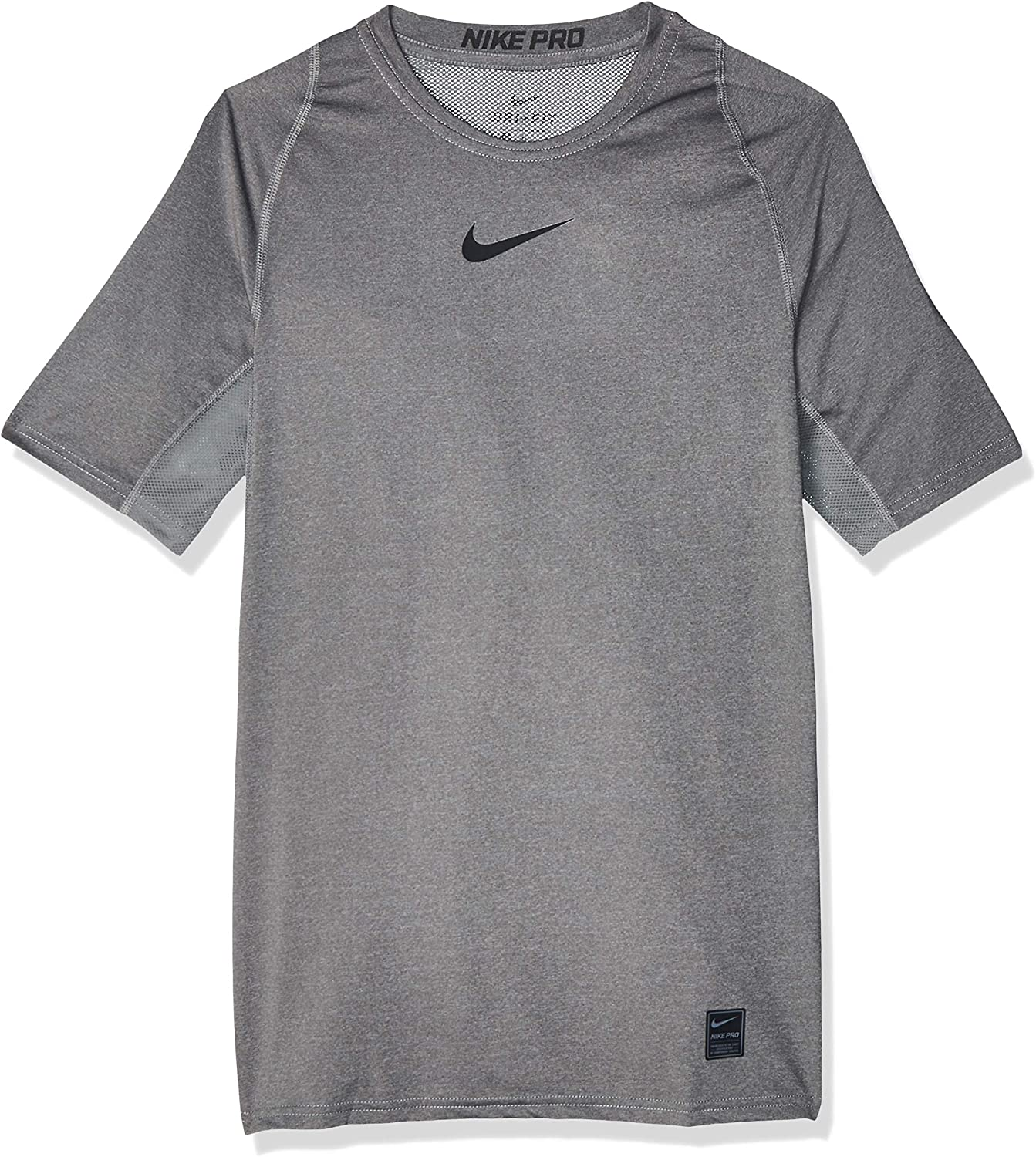 Nike Pro Men's Short-Sleeve Training Top (Carbon Heather, XL)