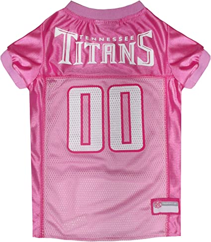NFL Tennessee Titans Dog Jersey Pink