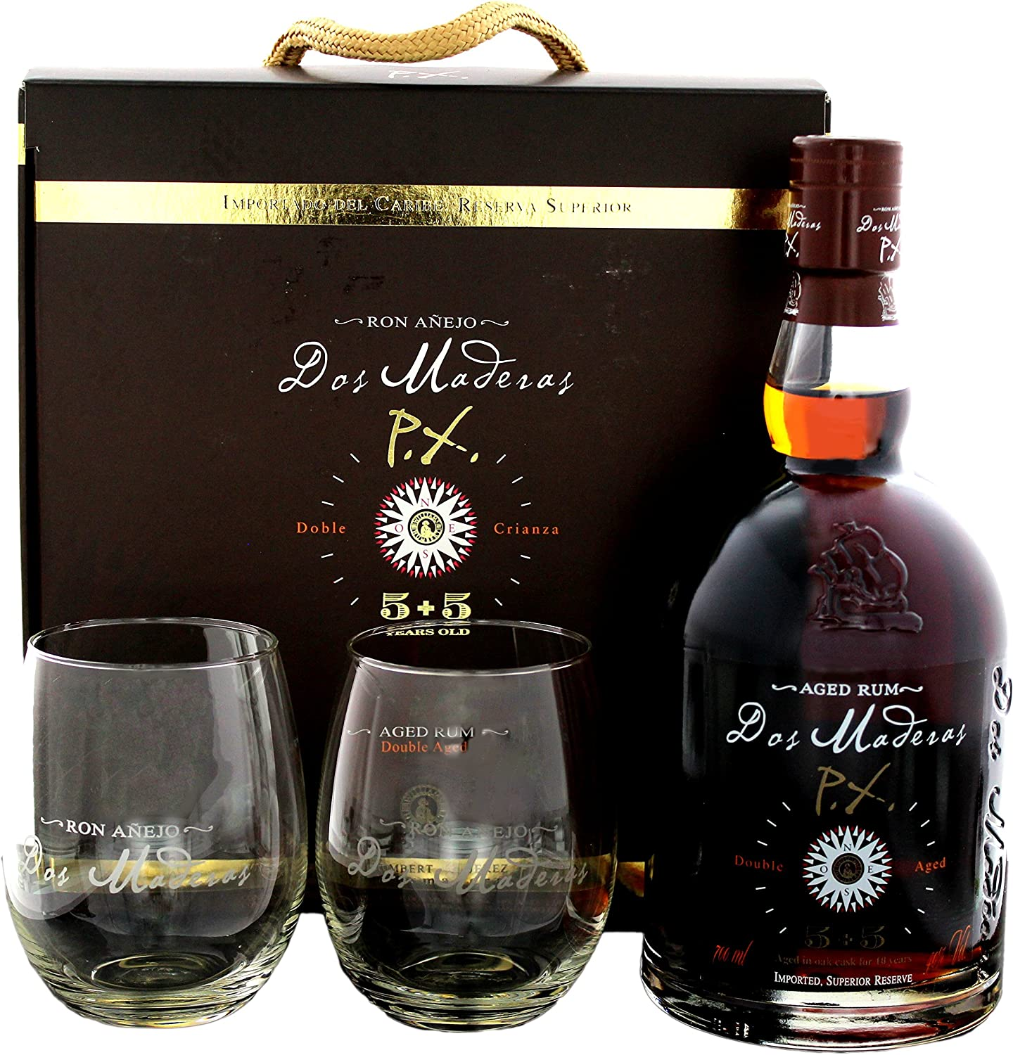 Dos Maderas Dos Maderas PX 5+5 Years Old Aged Rum 40% Vol. 0 ...